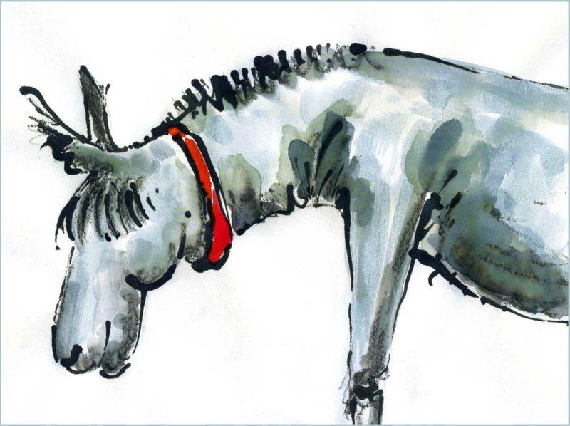 Jill Latter - inked donkey