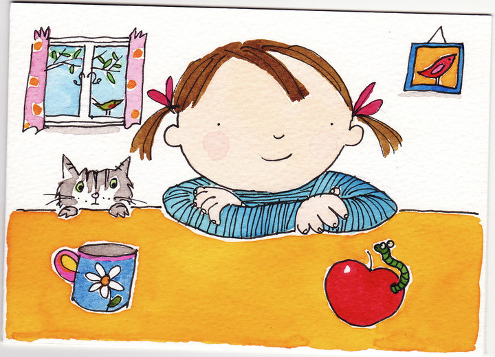 Girl and apple copy
