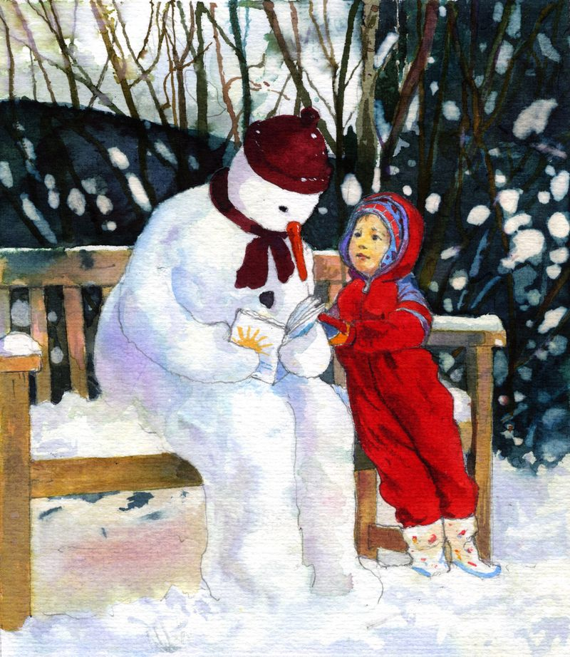 Alan Mark - Snowman in the Garden