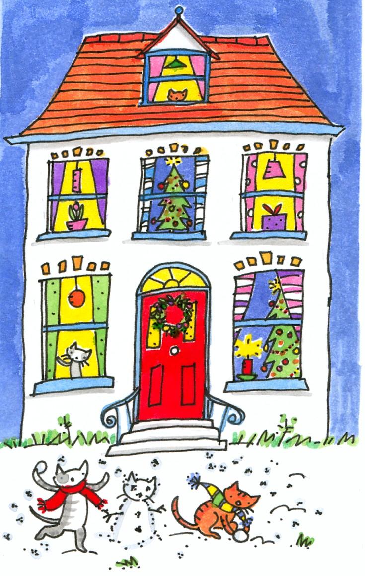 Jane Eccles. christmashouse