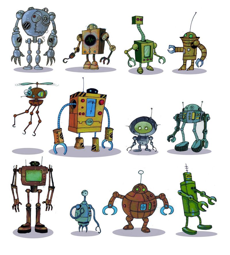 Chris Mould. Robots are people too