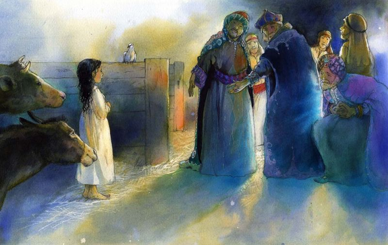 Alan Marks.The Shepherd Girl of Bethlehem.5