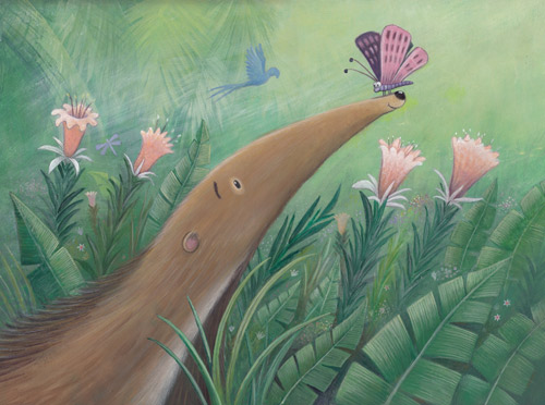 Anteater-and-butterfly