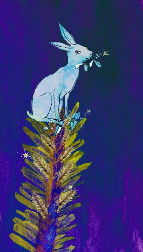Esmeralda on top of tree w stars
