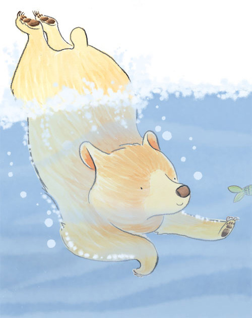 Underwater bear Rachel Boulton